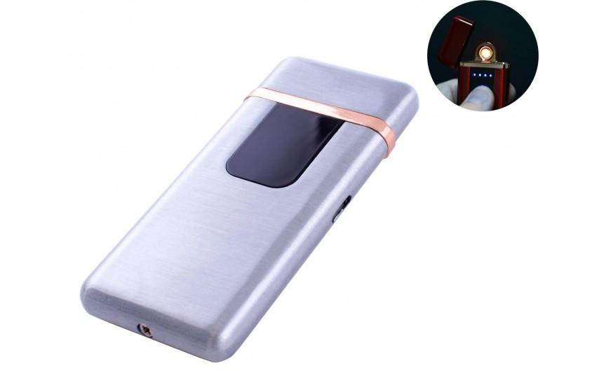 USB зажигалка Lighter №HL-77 Silver