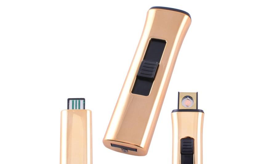 USB зажигалка Lighter №HL-78 Gold