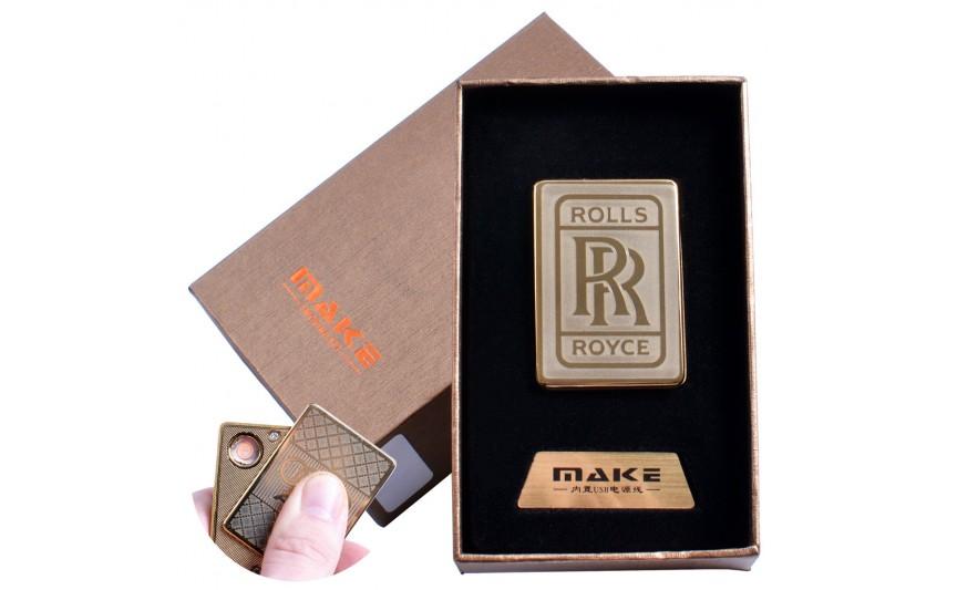 USB зажигалка-слайдер в подарочной коробке  (спираль накаливания) №4693B-1