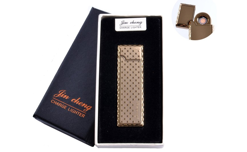 """USB зажигалка в подарочной упаковке """"Jin cheng"""" (двухсторонняя, спираль накаливания) №4793-1"""