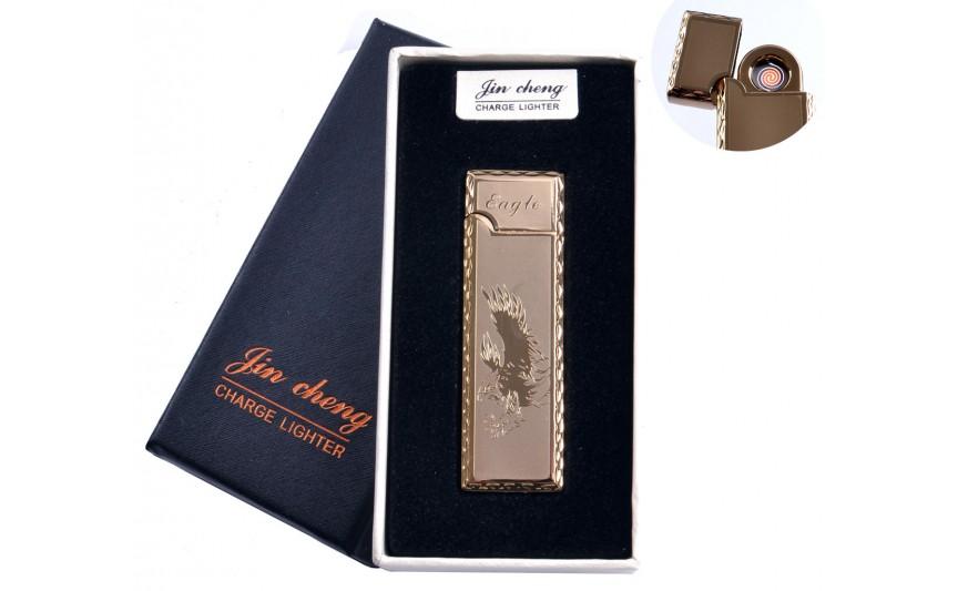 """USB зажигалка в подарочной упаковке """"Eagle"""" (двухсторонняя, спираль накаливания) №4793-2"""