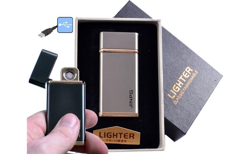 """USB зажигалка в подарочной упаковке """"JINPG"""" (спираль накаливания) №4786-1"""