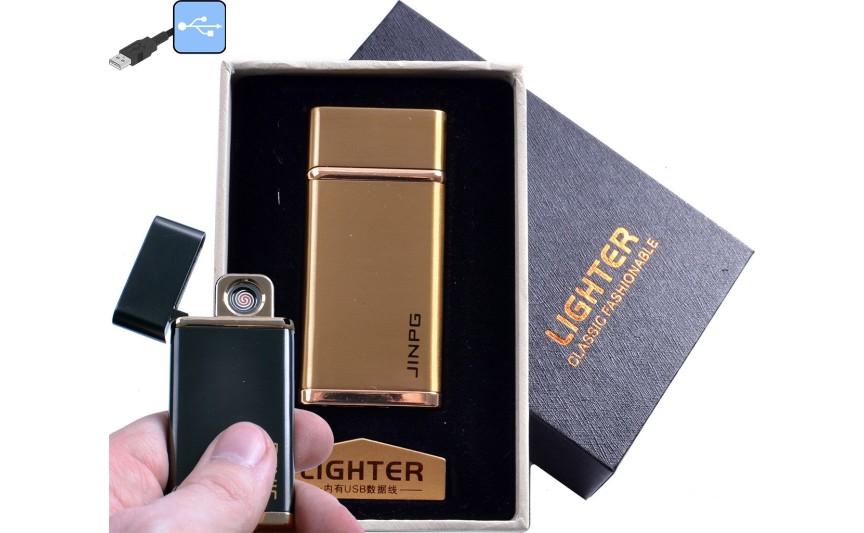 """USB зажигалка в подарочной упаковке """"JINPG"""" (спираль накаливания) №4786-2"""