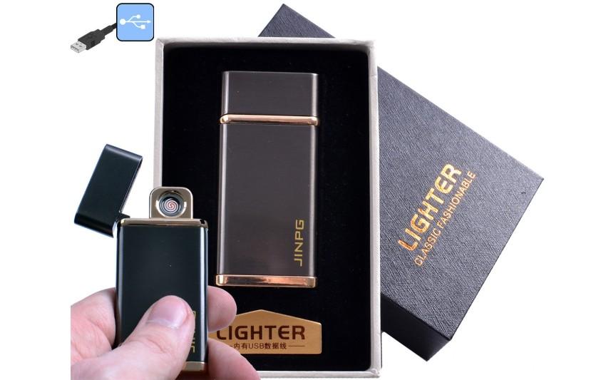 """USB зажигалка в подарочной упаковке """"JINPG"""" (спираль накаливания) №4786-3"""