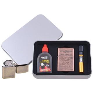 Зажигалка бензиновая в подарочной коробке (Баллончик бензина/Мундштук) EAGLE №XT-3865-5