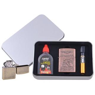 Зажигалка бензиновая в подарочной коробке (Баллончик бензина/Мундштук) RIGHTEOUS RULER №XT-3865-6