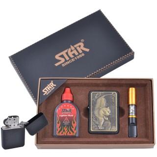 Зажигалка бензиновая в подарочной коробке (Баллончик бензина/Мундштук) STAR №XT-4378-2