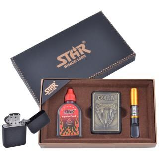 Зажигалка бензиновая в подарочной коробке (Баллончик бензина/Мундштук) STAR №XT-4378-4