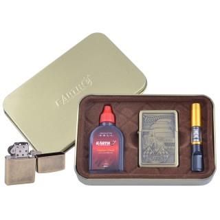 Зажигалка бензиновая в подарочной коробке (Баллончик бензина/Мундштук) Гонки №XT-4931-2