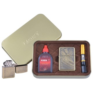 Зажигалка бензиновая в подарочной коробке (Баллончик бензина/Мундштук) Гонки №XT-4931-4