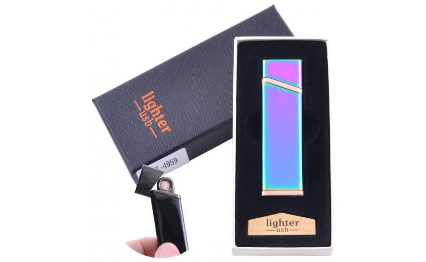 USB  зажигалка в подарочной упаковке Lighter (Спираль накаливания) №XT-4959-1