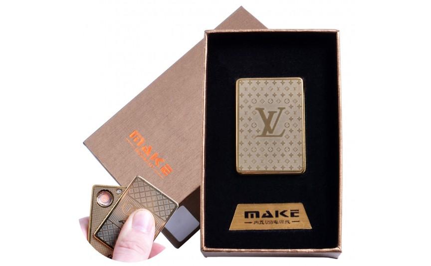 USB зажигалка-слайдер в подарочной коробке  (спираль накаливания) №4693B-2