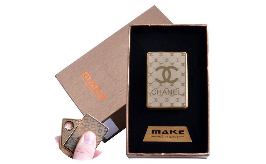 USB зажигалка-слайдер в подарочной коробке  (спираль накаливания) №4693B-3