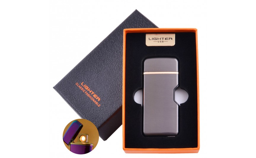 USB зажигалка в подарочной коробке Lighter №HL-114 Black