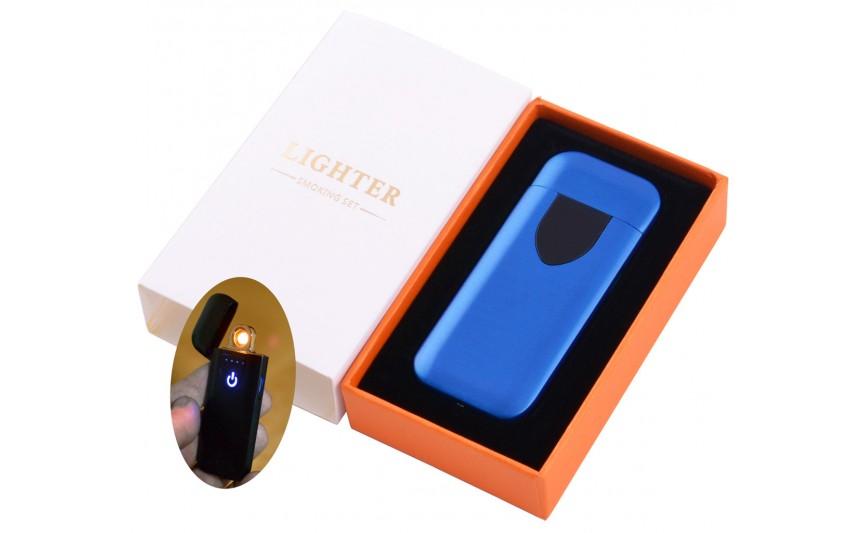 USB зажигалка в подарочной коробке Lighter №HL-134 Blue