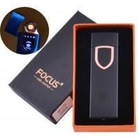 USB Запальничка в подарунковій коробці Focus (спіраль розжарювання) №HL-135 Black