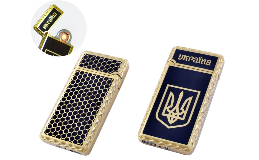 USB зажигалка Украина (Спираль накаливания) №HL-141