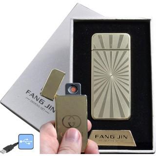 """USB зажигалка в подарочной упаковке """"Fang Jin"""" (спираль накаливания) №4796С-2"""