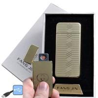 """USB зажигалка в подарочной упаковке """"Fang Jin"""" (спираль накаливания) №4796С-3"""