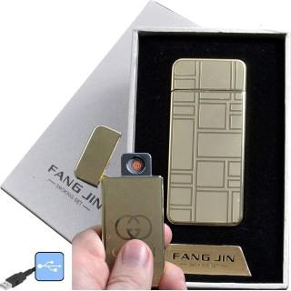 """USB зажигалка в подарочной упаковке """"Fang Jin"""" (спираль накаливания) №4796С-4"""
