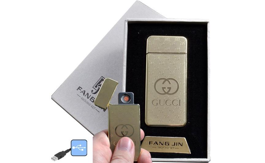 """USB зажигалка в подарочной упаковке """"GUCCI"""" (спираль накаливания) №4796A-5"""