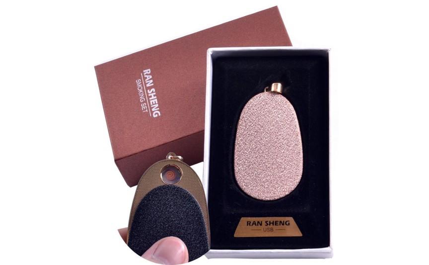 """USB запальничка-брелок в подарунковій упаковці """"Кулон"""" (Спіраль розжарювання) №4867-2"""