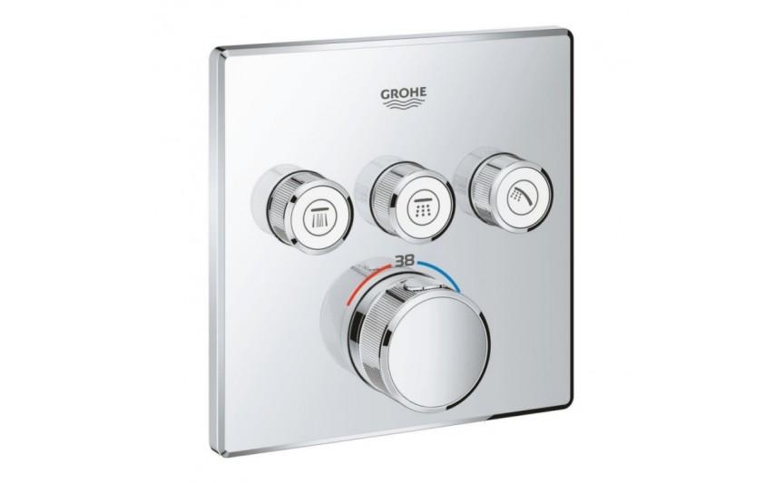 Внешняя часть термостатического смесителя Grohe Grohtherm SmartControl 29126000 на 3 выхода