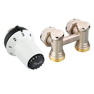 Комплект для подключения стальных радиаторов (задн.подкл.) RAS-CK+RLV-KS Danfoss (013G5276)