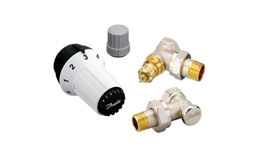 Комплект термостатический угл.дизайн 1/2 RAS-C+RA-NF+RLV-S Danfoss (013G5253)