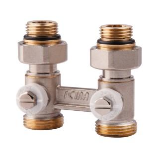Вентиль двотрубний подвійний термостатичний 1/2 (нижн.підкл) Icma № 912