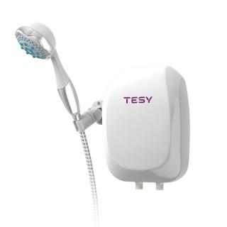 Електричний проточний водонагрівач TESY з душовою лійкою 5,0 кВт