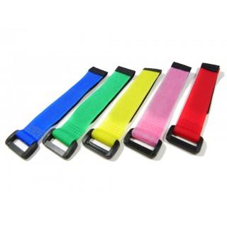 Стяжки на липучці Таро 20см 5шт кольорові для кріплення акумуляторів (TL1066-02)