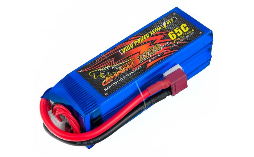 Аккумулятор Dinogy Li-Pol 2250mAh 14.8V 4S 65C 33x35x106мм T-Plug