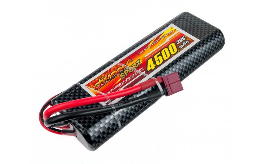 Аккумулятор Dinogy Li-Pol 4500mAh 7.4V 2S 30C Hardcase 25x46x138мм T-Plug