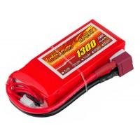 Аккумулятор Dinogy Li-Pol 1300mAh 11.1V 3S 30C 22x35x75мм T-Plug