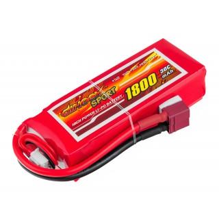 Аккумулятор Dinogy Li-Pol 1800mAh 11.1V 3S 30C 24x35x84мм T-Plug