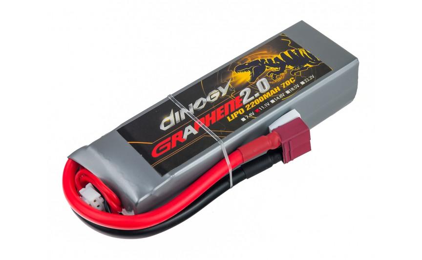 Акумулятор Dinogy G2.0 Li-Pol 2200mAh 11.1V 3S 70C 24x35x110мм T-Plug
