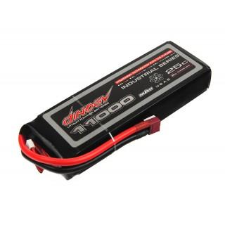 Аккумулятор Dinogy Li-Pol 11000mAh 14.8V 4S 25C 190х59х38мм T-Plug