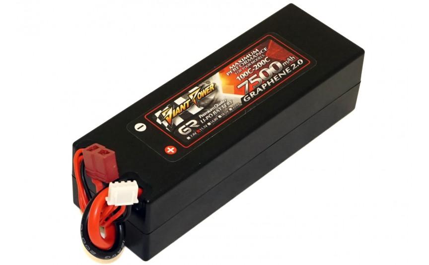 Аккумулятор Giant Power G2.0 Li-Pol 7500mAh 11.1V 3S 100C Hardcase 38x46x139 T-Plug